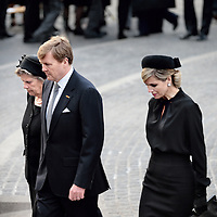 Nederland, Amsterdam , 4 mei 2015.<br /> Dodenherdenking op de Dam.<br /> Op de foto: Koning Willem Alexander en Koningin Maxima.<br /> Netherlands, Amsterdam, Remembrance Day 1940-1945 on the Dam Amsterdam in the presence of the king and queen.
