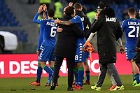Paolo Cannavaro Sassuolo commosso al termine della sua ultima partita da professionista, salutato da Eusebio Di Francesco. Paolo Cannavaro moved at the end of his last career match .  <br /> Roma 30-12-2017 Stadio Olimpico Football Calcio Serie A 2017/2018 AS Roma - Sassuolo Foto Antonietta Baldassarre / Insidefoto