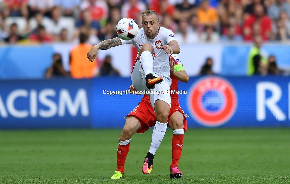 2016.06.25 Saint-Etienne<br /> Pilka nozna Euro 2016<br /> mecz 1/8 finalu Szwajcaria - Polska<br /> N/z Kamil Grosicki<br /> Foto Lukasz Laskowski / PressFocus<br /> <br /> 2016.06.25<br /> Football UEFA Euro 2016 <br /> Round of 16 game between Switzerland and Poland<br /> Kamil Grosicki<br /> Credit: Lukasz Laskowski / PressFocus
