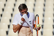 Nicolas Mahut (FRA) at practice on tennis court 2 during the Roland Garros French Tennis Open 2017, preview, on May ......, 2017, at the Roland Garros Stadium in Paris, France - Photo Stephane Allaman / ProSportsImages / DPPI