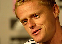 Photo: Jed Wee.<br />Newcastle United Press Conference. The Barclays Premiership. 24/07/2006.<br />Newcastle signing Damien Duff.