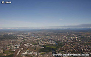 aerial photograph of Glasgow Scotland