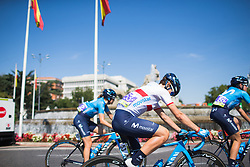 Malgorzata Jasinska (POL) of Movistar Women's Team rides to the start of Stage 2 of the Madrid Challenge - a 100.3 km road race, starting and finishing in Madrid on September 16, 2018, in Spain. (Photo by Balint Hamvas/Velofocus.com)