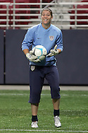 Oct 12 2007:  Nicole Barnhart of the US WNT.  The US Women's National Team practiced at the Edward Jones Dome in St. Louis for their friendly match against the Women's National Team of Mexico on October 13th.