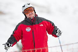 TITULAER Sandra, banked slalom training, 2015 IPC Snowboarding World Championships, La Molina, Spain