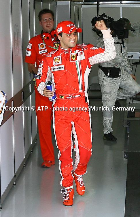 Pole, Felipe Massa, Scuderia  Ferrari, 01.11.08, Formel 1 GP von Brasilien in Sao Paulo,<br /> Formel 1 Grosser Preis von BRASILIEN - Grand Prix of BRAZIL, Sao Paulo,   F1 Grand Prix   01.11.2008 - Grand Prix du Br&eacute;sil a Sao Paulo (Interlagos) -   Photo: &copy; ATP Thomas MELZER