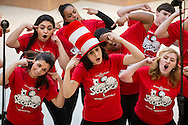 "Town of Wallkill, New York - John S. Burke Catholic High School students sing a song from ""Seussical the Musical"" during the Orange County Arts Council's All-County High School Musical Showcase and Arts Display at the Galleria at Crystal Run on Feb. 27, 2016."