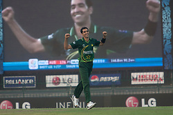 ©London News Pictures. 19/03/2011.Umar Gul celebrates another wicket & ends up with figures of3/30 at R.Premadasa Stadium Colombo Sri Lanka
