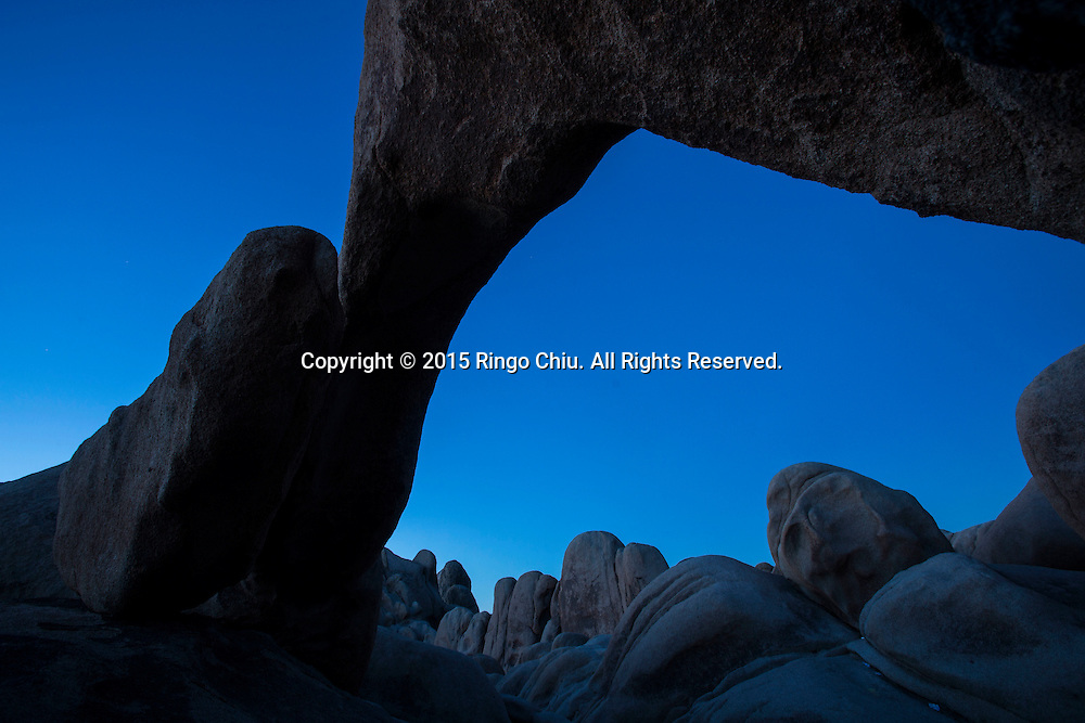 The Arch Rock at Joshua Tree National Park in Twentynine Palms, California, January 25, 2015. ( Photo by Ringo Chiu/PHOTOFORMULA.com)