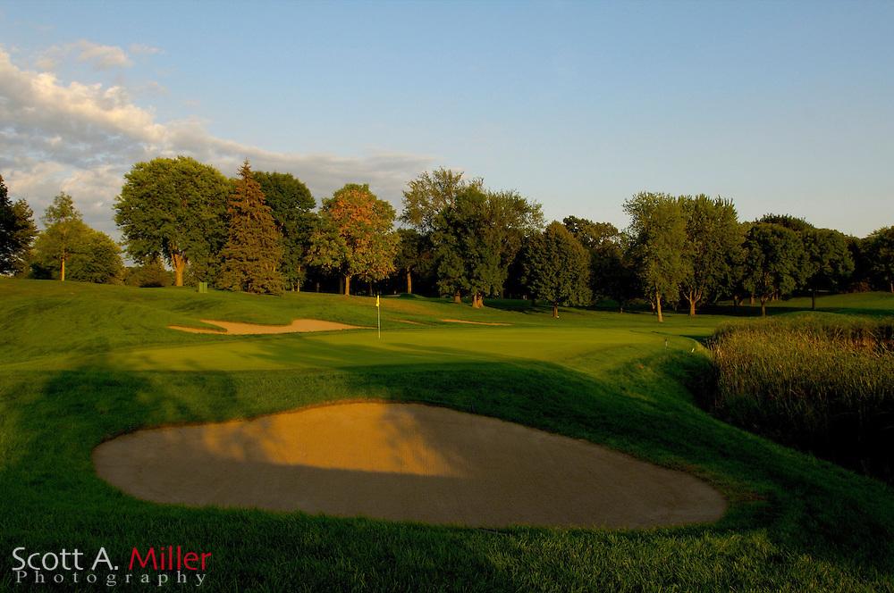 Hole No. 7 at Hazeltine National Golf Club..                ©2006 Scott A. Miller
