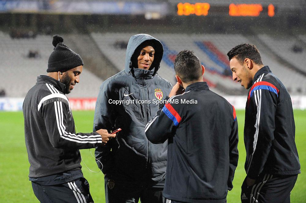 Alexandre LACAZETTE / Anthony MARTIAL / Jordan FERRI / Corentin TOLISSO  - 17.12.2014 - Lyon / Monaco - Coupe de la ligue -<br /> Photo : Jean Paul Thomas / Icon Sport