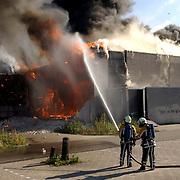 NLD/Huizen/20050918 - Grote brand theater 3 in 1 Huizen