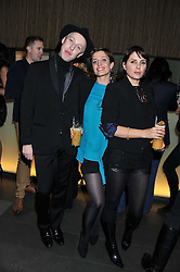 "Left to right, JAMES BROWN, LISA DAWN and SADIE FROST at a party to celebrate the launch of Meg Matthews' blog - ""Meg says"" at the bar at Ni Ju San, 23 St.James's Street, London on 1st December 2011."