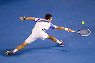 "Novak Djokovic(SRB)[3].2011 Australian Open Tennis.Mens Singles.Final.""Rod Laver Arena"", Melbourne Park, Melbourne, Victoria, Australia.30/01/11.Photo By Lucas Wroe"