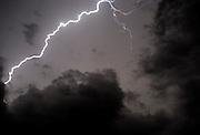Lightning bolt during a lightning storm