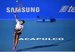 2019?3?2? .    ????????——??????????????.    3?1???????????? .    ????2019?????????????????????????2?1????????????????? .    ?????????..(SP)MEXICO-ACAPULCO-TENNIS-WTA-MEXICAN OPEN.(190302) -- ACAPULCO, March. 2, 2019 -- Wang Yafan of China serves during the women's singles semifinal match between Wang Yafan of China and Donna Vekic of Croatia at the 2019 WTA Mexican Open tennis tournament in Acapulco, Mexico, on March. 1, 2019. Wang Yafan won 2-1. (Credit Image: © Xinhua via ZUMA Wire)