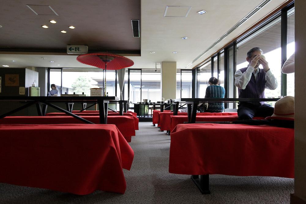tearoom in a modern building inside the Sankeien garden Yokohama
