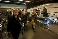 """Roma 23 Novembre 2015<br /> Attivo a partire da oggi 23 novembre, e per un anno, l'ordinanza con le misure di sicurezza previste a Roma per il Giubileo. Il piano, ideato dalla questura con la prefettura e forze dell'ordine, prevede un potenziamento dei controlli antiterrorismo su più di mille obiettivi considerati «sensibili». I paracadudisti della Folgore durante i controlli alla stazione Termini.<br /> Rome 23 November 2015<br /> Active from today on November 23, and for a year, the ordinance with the security measures provided in Rome for the Jubilee. The plan, devised by the police with the prefecture, provides for the reinforcement of anti-terrorism controls on more than a thousand goals considered """"sensitive"""". The paratroopers of the Folgore during checks at Termini Station."""