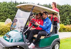 01.08.2016, Golfclub, Zell am See, AUT, Bayer 04 Leverkusen, Trainingslager, im Bild Kyriakos Papadopoulos (Bayer 04 Leverkusen), Hakan Calhanoglu (Bayer 04 Leverkusen), Ramazan Oezcan (Bayer 04 Leverkusen), Julian Baumgartlinger (Bayer 04 Leverkusen) // during the Trainingscamp of German Bundesliga Club Bayer 04 Leverkusen at the Golf Club in Zell am See, Austria on 2016/08/01. EXPA Pictures © 2016, PhotoCredit: EXPA/ JFK
