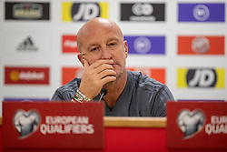 CARDIFF, WALES - Monday, November 18, 2019: Hungary's head coach Marco Rossi during a press conference at the Cardiff City Stadium ahead of the final UEFA Euro 2020 Qualifying Group E match between Wales and Hungary. (Pic by David Rawcliffe/Propaganda)