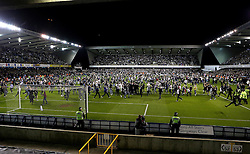 Millwall fans invade the pitch at full time after reaching the League One Playoff Final - Mandatory by-line: Robbie Stephenson/JMP - 20/05/2016 - FOOTBALL - The Den - London, England - Millwall v Bradford City - Sky Bet League One Play-Off Semi-Final second leg