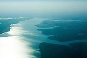 Uberlandia_MG, Brasil..Vista aerea do Rio Grande, entre Minas Gerais e Sao Paulo...Aerial view of Rio Grande, between Minas Gerais and Sao Paulo...Foto: BRUNO MAGALHAES /  NITRO