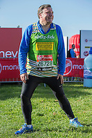 Ed Balls in the celebrity area ahead of the Green Start at The Virgin Money London Marathon 2014 on Sundy 13 April 2014<br />