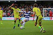 Rotherham United midfielder Tom Adeyemi (24) battles for possession with Queens Park Rangers midfielder Luke Freeman (2) during the EFL Sky Bet Championship match between Queens Park Rangers and Rotherham United at the Loftus Road Stadium, London, England on 18 March 2017. Photo by Matthew Redman.