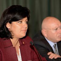 Toluca, México.- Martha Hilda González Calderón, alcaldesa de Toluca, en conferencia de prensa anuncio acciones para el mejoramiento del transporte urbano en el municipio de Toluca. Agencia MVT / Crisanta Espinosa