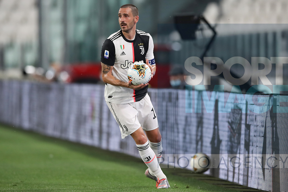 Juventus's Italian defender Leonardo Bonucci hurries to take a throw in during the Serie A match at Allianz Stadium, Turin. Picture date: 26th June 2020. Picture credit should read: Jonathan Moscrop/Sportimage