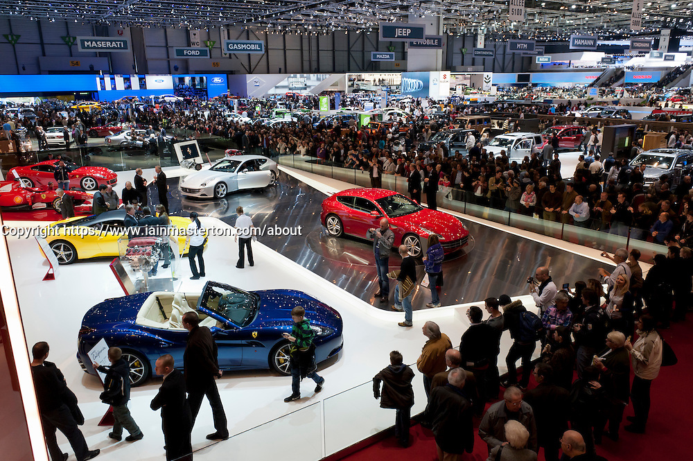 Ferrari stand at the Geneva Motor Show 2011 Switzerland