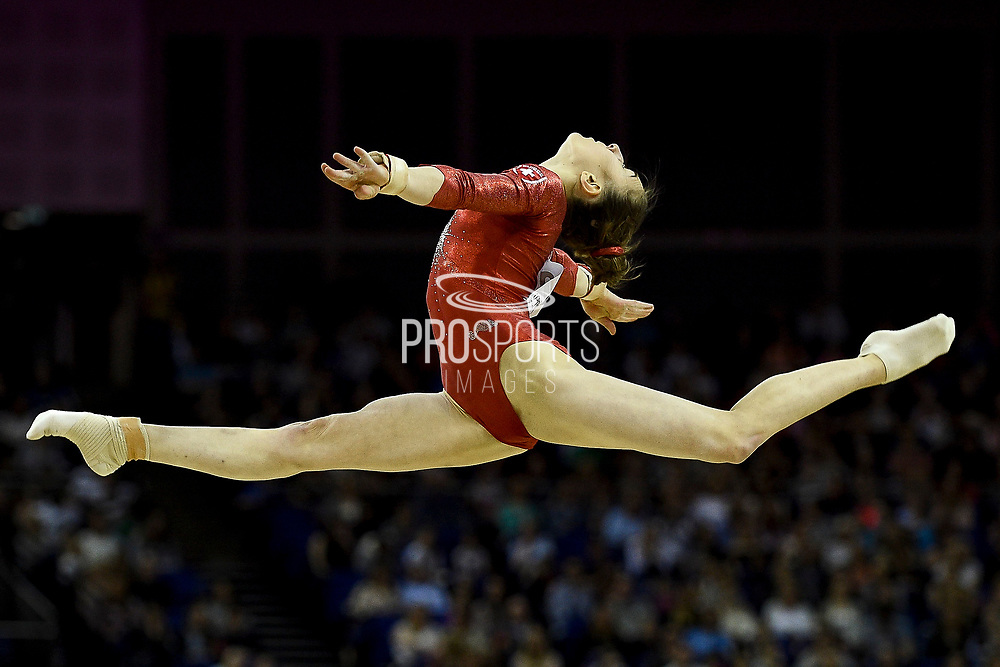 Victoria Nguyen of the United States of America (USA) on the Beam on her way to winning a Silver Medal during the iPro Sport World Cup of Gymnastics 2017 at the O2 Arena, London, United Kingdom on 8 April 2017. Photo by Martin Cole.