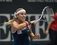 Dominika Cibulkova (SVK) during the semi finals of the WTA Generali Ladies Linz Open at TipsArena, Linz<br /> Picture by EXPA Pictures/Focus Images Ltd 07814482222<br /> 15/10/2016<br /> *** UK &amp; IRELAND ONLY ***<br /> <br /> EXPA-REI-161015-5006.jpg