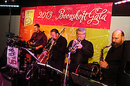 This Side Up performs during the 2013 Boonshoft Gala at the Boonshoft Museum of Discovery in Dayton.  The theme, Hip to be Square, is reflected in exhibits and demonstrations during the evening.