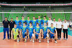 Team of Slovenia prior to the volleyball match between National Teams of Slovenia and Croatia in 2nd leg of Eurovolley 2013 Qualifications on June 8, 2013 in Arena Stozice, Ljubljana, Slovenia. (Photo By Vid Ponikvar / Sportida)