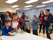 Merrick, New York, U.S.  December 20, 2019. KEVIN SHINICK has book signing for his STAR WARS: FORCE COLLECTOR at North Merrick Library on Nassau County Force Collector Day. Author Shinick named home planet of Karr Nuq Sin, the main character of this canon Star Wars young adult novel, MEROKIA in honor of Merokee tribe who settled his Merrick hometown on Long Island.