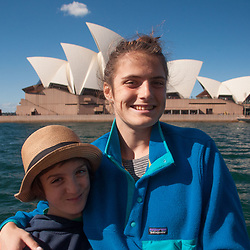 Max and Eliza at the Opera House, Sydney, New South Wales, Australia