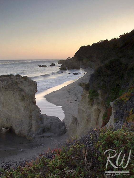 Sunset over El Matador State Beach, Malibu, California