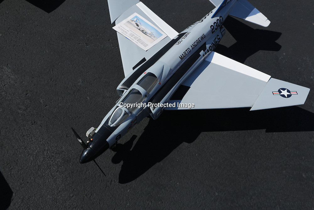 A model plane is pictured during Aviation Day Saturday October 11, 2014 at Wilmington International Airport in Wilmington, N.C. (Jason A. Frizzelle)