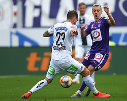 07.04.2019, Generali Arena, Wien, AUT, 1. FBL, FK Austria Wien vs SK Puntigamer Sturm Graz, Meistergruppe, 24. Spieltag, im Bild v.l. Lukas Spendlhofer (SK Puntigamer Sturm Graz) und Maximilian Sax (FK Austria Wien) // during the tipico Bundesliga Master group, 24th round match between FK Austria Wien and SK Puntigamer Sturm Graz at the Generali Arena in Wien, Austria on 2019/04/07. EXPA Pictures © 2019, PhotoCredit: EXPA/ Thomas Haumer