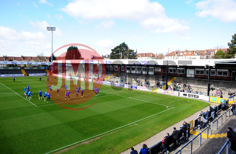 - Photo mandatory by-line: Alex James/JMP - Mobile: 07966 386802 - 31/03/2015 - SPORT - Football - Bristol - Memorial Stadium - Vanarama Football Conference - Bristol Rovers Open Training Session