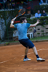 June 18, 2018 - L'Aquila, Italy - Gianluigi Quinzi during match between Roberto Quiroz (ECU) and Gianluigi Quinzi (ITA) during day 3 at the Internazionali di Tennis Citt dell'Aquila (ATP Challenger L'Aquila) in L'Aquila, Italy, on June 18, 2018. (Credit Image: © Manuel Romano/NurPhoto via ZUMA Press)