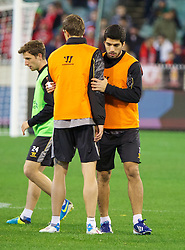 MELBOURNE, AUSTRALIA - Tuesday, July 23, 2013: Liverpool's Luis Suarez during a training session at the Melbourne Cricket Ground ahead of their preseason friendly against Melbourne Victory. (Pic by David Rawcliffe/Propaganda)