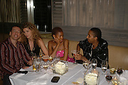 Talula Adeyemi and Molaroid Soloman, Natalia Vodianova and Elle Macpherson host a dinner in honor of Francisco Costa (creative Director for women) and Italo Zucchelli (creative director for men)  of Calvin Klein. Locanda Locatelli, 8 Seymour St. London W1. ONE TIME USE ONLY - DO NOT ARCHIVE  © Copyright Photograph by Dafydd Jones 66 Stockwell Park Rd. London SW9 0DA Tel 020 7733 0108 www.dafjones.com