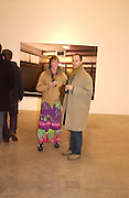 Paul Clark and Ann Course. Rijksakademie exhibition, Victoria Miro Gallery, London. 11 January 2003. © Copyright Photograph by Dafydd Jones 66 Stockwell Park Rd. London SW9 0DA Tel 020 7733 0108 www.dafjones.com