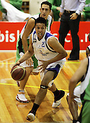 Charlie Piho in action during the NBL basketball match between the Youthtown Auckland Stars and the Manawatu Jets at the ASB Stadium, Auckland, New Zealand on Thursday 5 April 2007. Photo: Hannah Johnston/PHOTOSPORT<br /> <br /> <br /> <br /> 050407