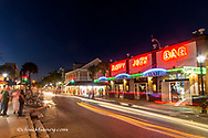 Sloppy Joes bar at dusk on Duval Street in Key West, Florida, USA