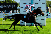 Disey's Edge ridden by Trevor Whelan and trained by Christopher Mason in the Aston Manor Maiden Stakes (Class 4) race.  - Ryan Hiscott/JMP - 17/08/2019 - PR - Bath Racecourse - Bath, England - Race Meeting at Bath Racecourse