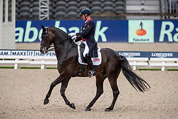 HESTER Carl (GBR), HAWTINS DELICATO<br /> Rotterdam - Europameisterschaft Dressur, Springen und Para-Dressur 2019<br /> Longines FEI European Championships Dressage Grand Prix - Teams (2nd group)<br /> Teamwertung 2. Gruppe<br /> 20. August 2019<br /> © www.sportfotos-lafrentz.de/Stefan Lafrentz