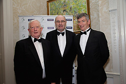 23/10/2015<br /> 10/23/2015<br /> 23 October 2015<br />  Guild of Agricultural Journalists &ndash; Michael Dillon Lecture at the Shelbourne Hotel, Dublin. For Farmer's Journal. <br /> At the event were (l-r): Frank Hayes; Phil Hogan, European Commissioner for Agriculture and Rural Development and Liam Lavelle, Ear to the Ground.